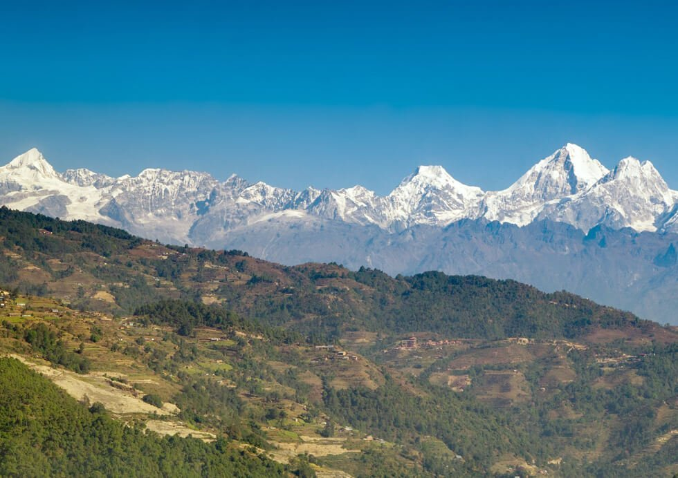 View from Nagarkot on Chisapani Nagarkot Trekking
