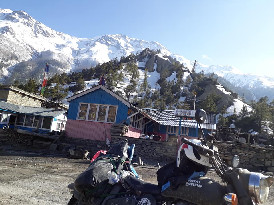 Annapurna circuit motorbike tours view from Manag